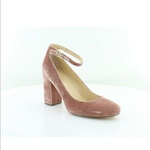 Ivanka Trump Oasia Pink Velvet Pumps Size 8.5